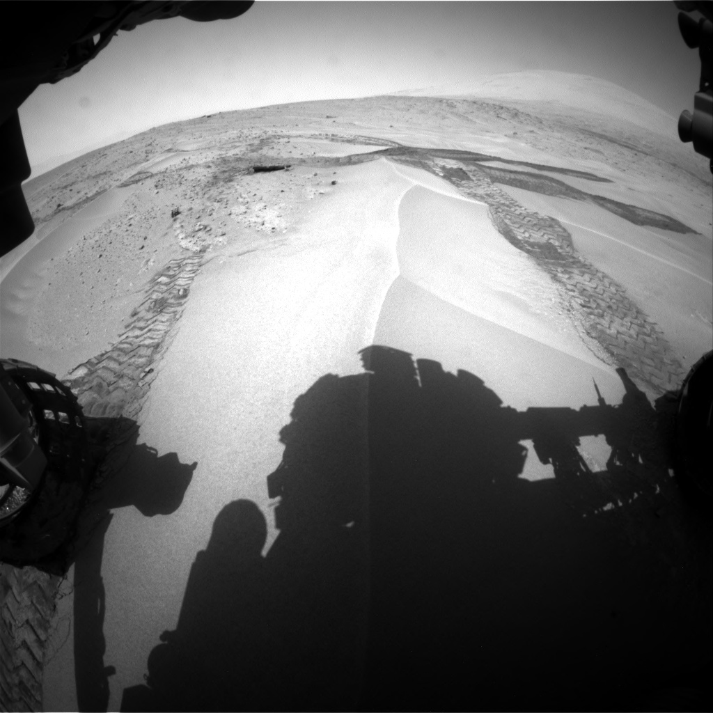 Nasa's Mars rover Curiosity acquired this image using its Front Hazard Avoidance Camera (Front Hazcam) on Sol 676, at drive 100, site number 38