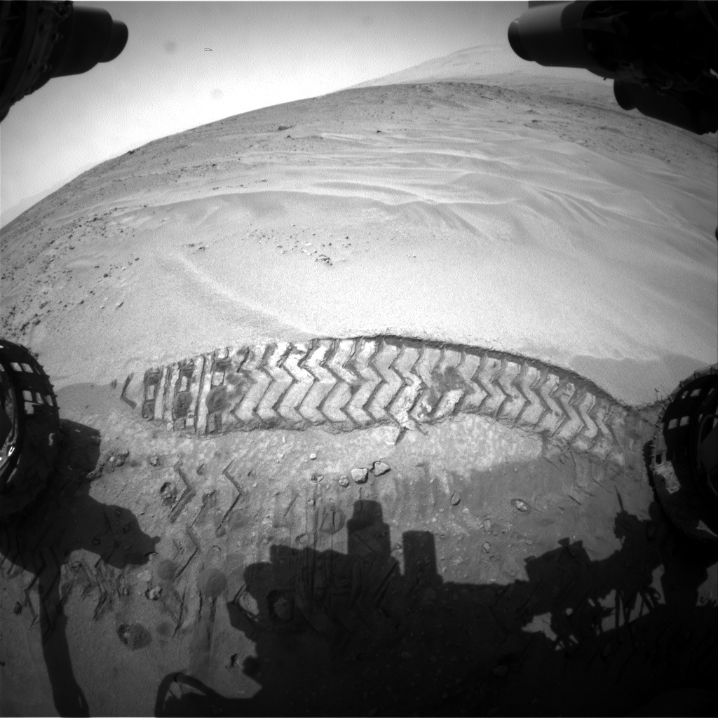 Nasa's Mars rover Curiosity acquired this image using its Front Hazard Avoidance Camera (Front Hazcam) on Sol 676, at drive 58, site number 38