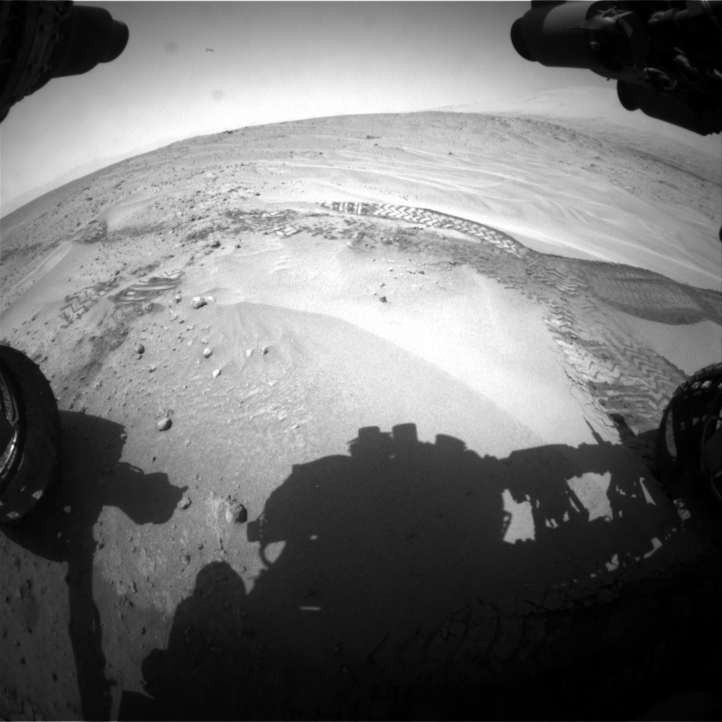 Nasa's Mars rover Curiosity acquired this image using its Front Hazard Avoidance Camera (Front Hazcam) on Sol 676, at drive 76, site number 38