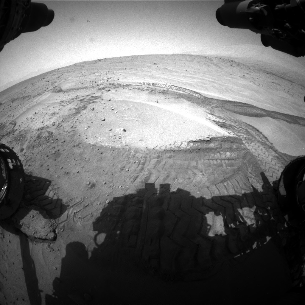 Nasa's Mars rover Curiosity acquired this image using its Front Hazard Avoidance Camera (Front Hazcam) on Sol 676, at drive 82, site number 38
