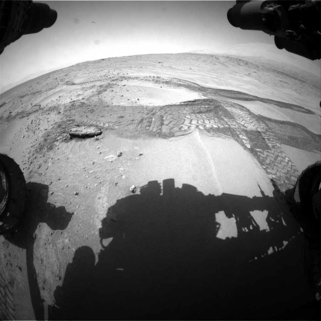 Nasa's Mars rover Curiosity acquired this image using its Front Hazard Avoidance Camera (Front Hazcam) on Sol 676, at drive 88, site number 38