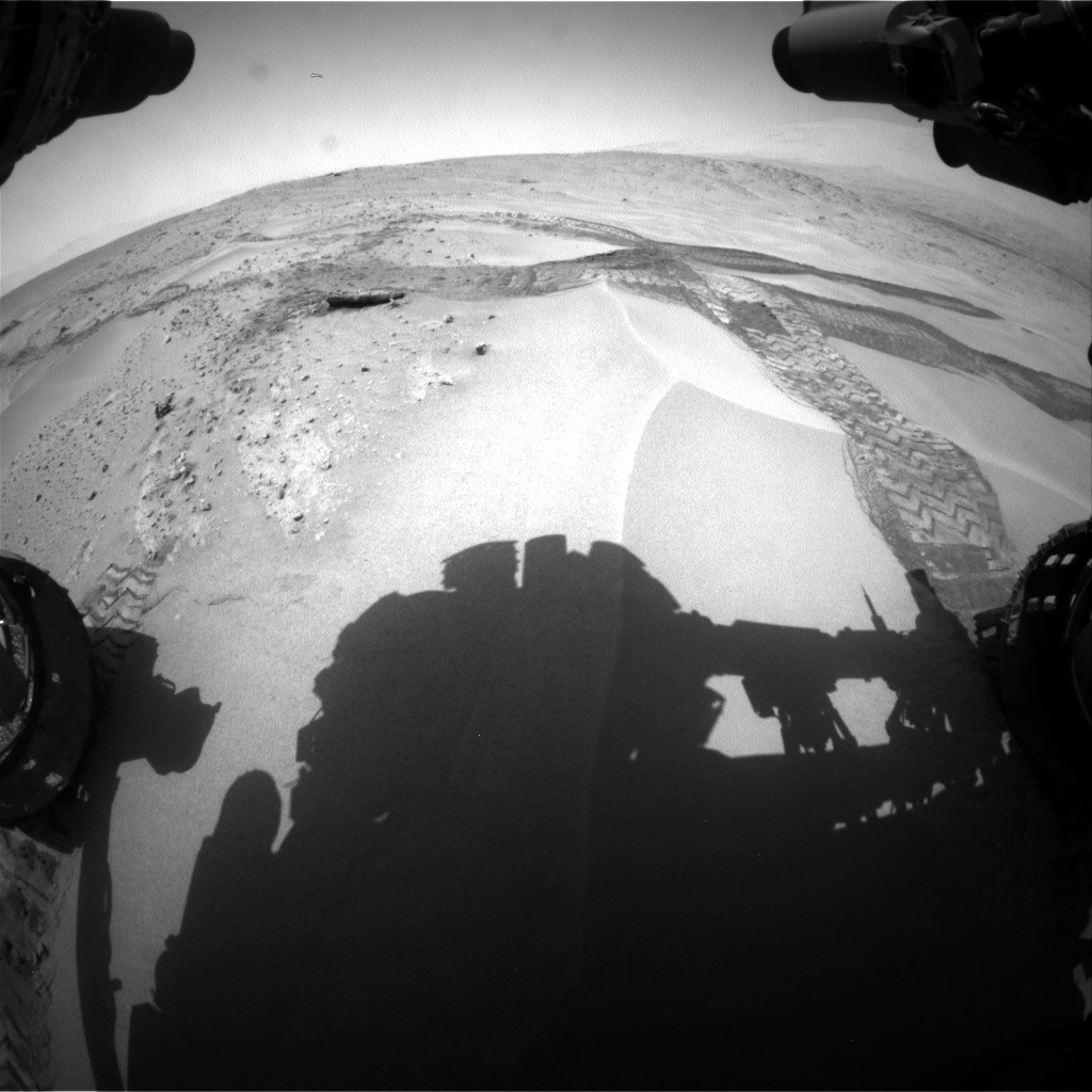 Nasa's Mars rover Curiosity acquired this image using its Front Hazard Avoidance Camera (Front Hazcam) on Sol 676, at drive 94, site number 38