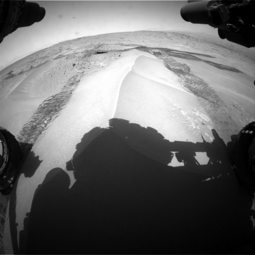 Nasa's Mars rover Curiosity acquired this image using its Front Hazard Avoidance Camera (Front Hazcam) on Sol 676, at drive 106, site number 38