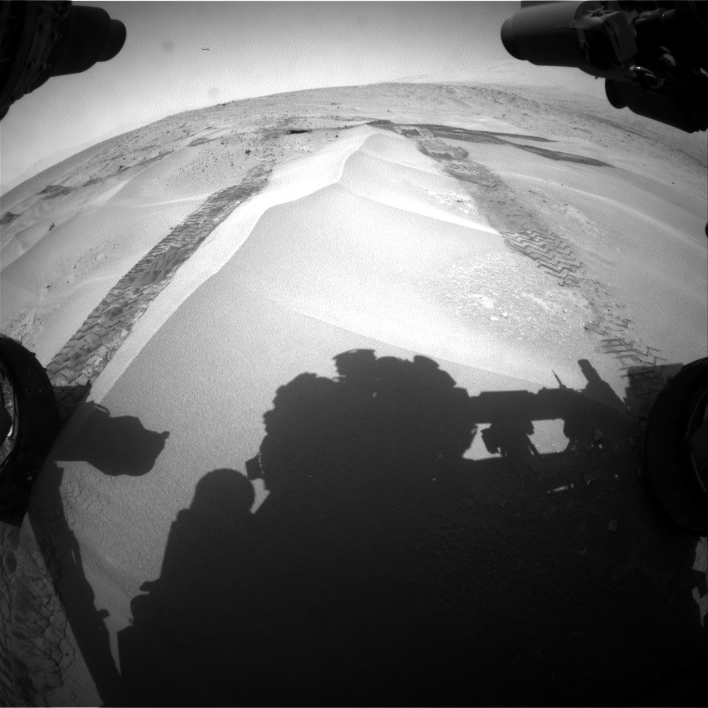 Nasa's Mars rover Curiosity acquired this image using its Front Hazard Avoidance Camera (Front Hazcam) on Sol 676, at drive 118, site number 38
