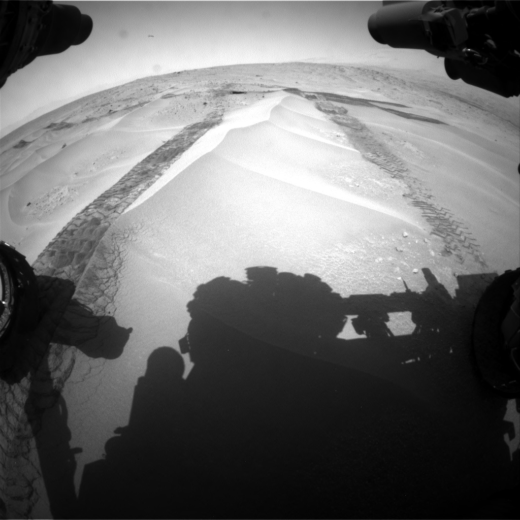 Nasa's Mars rover Curiosity acquired this image using its Front Hazard Avoidance Camera (Front Hazcam) on Sol 676, at drive 124, site number 38