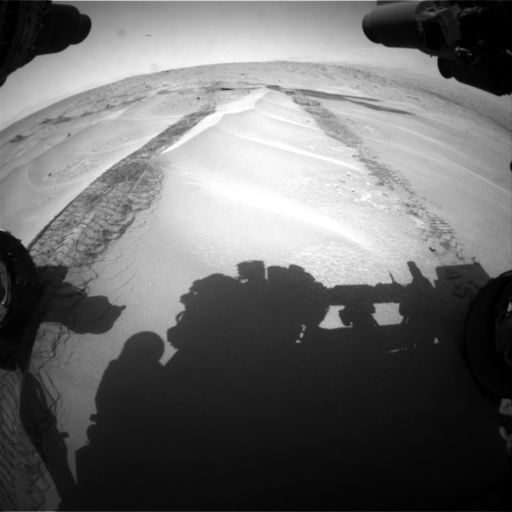 Nasa's Mars rover Curiosity acquired this image using its Front Hazard Avoidance Camera (Front Hazcam) on Sol 676, at drive 130, site number 38
