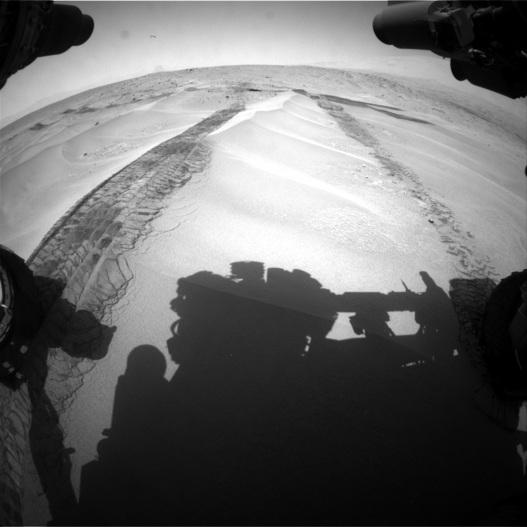 Nasa's Mars rover Curiosity acquired this image using its Front Hazard Avoidance Camera (Front Hazcam) on Sol 676, at drive 136, site number 38