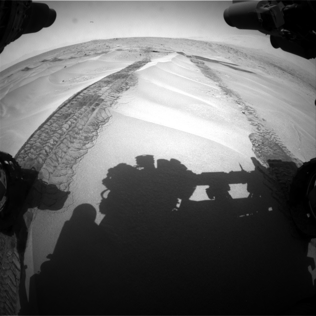 Nasa's Mars rover Curiosity acquired this image using its Front Hazard Avoidance Camera (Front Hazcam) on Sol 676, at drive 142, site number 38