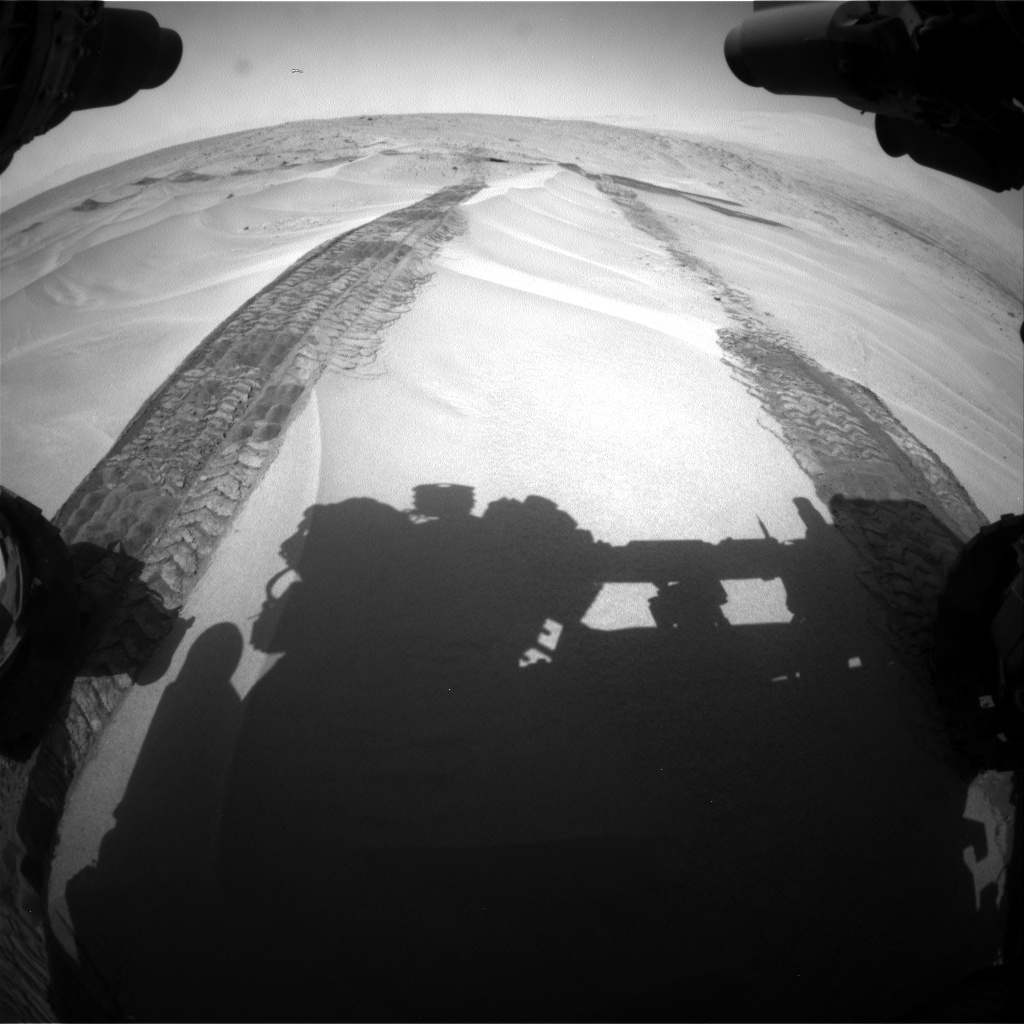 Nasa's Mars rover Curiosity acquired this image using its Front Hazard Avoidance Camera (Front Hazcam) on Sol 676, at drive 154, site number 38
