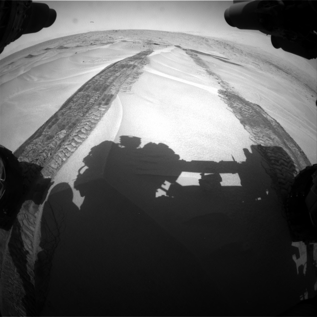 Nasa's Mars rover Curiosity acquired this image using its Front Hazard Avoidance Camera (Front Hazcam) on Sol 676, at drive 160, site number 38