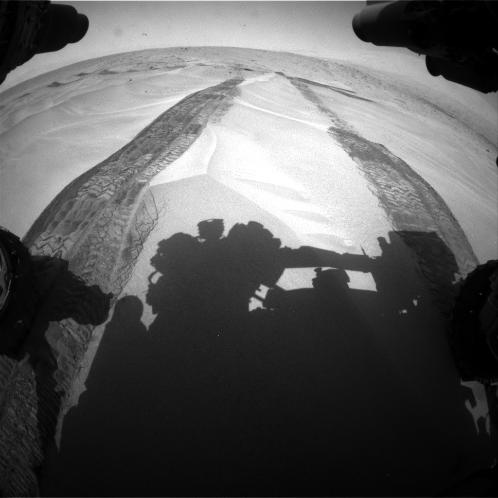 Nasa's Mars rover Curiosity acquired this image using its Front Hazard Avoidance Camera (Front Hazcam) on Sol 676, at drive 166, site number 38