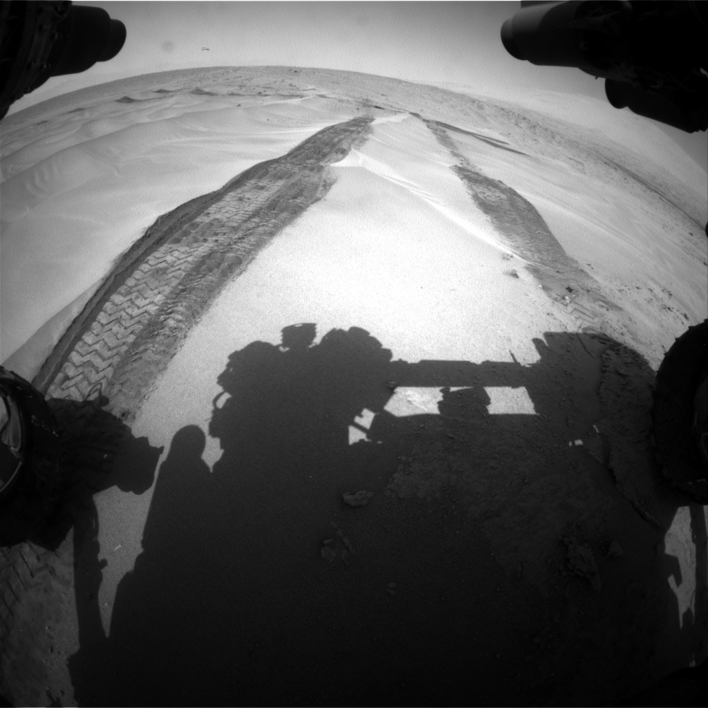Nasa's Mars rover Curiosity acquired this image using its Front Hazard Avoidance Camera (Front Hazcam) on Sol 676, at drive 184, site number 38