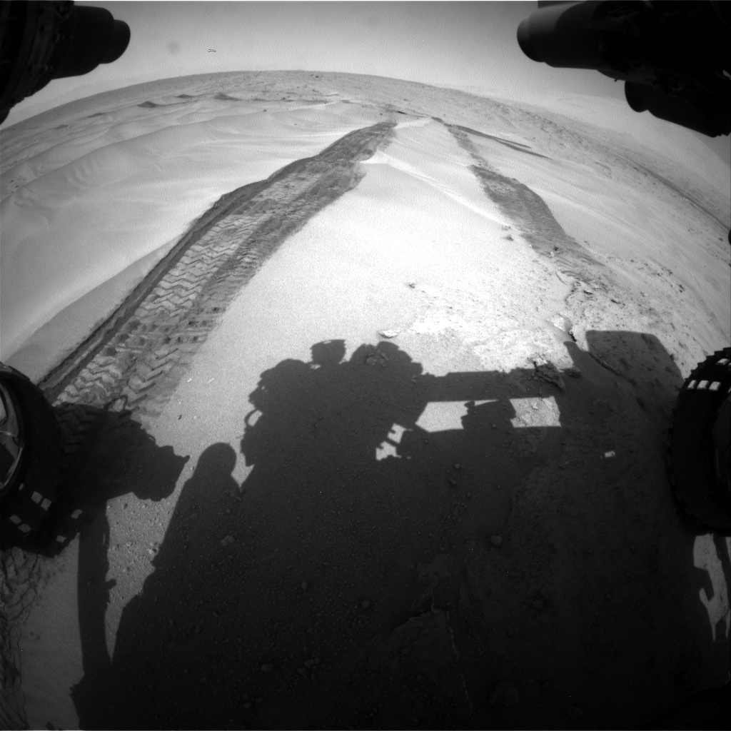 Nasa's Mars rover Curiosity acquired this image using its Front Hazard Avoidance Camera (Front Hazcam) on Sol 676, at drive 190, site number 38