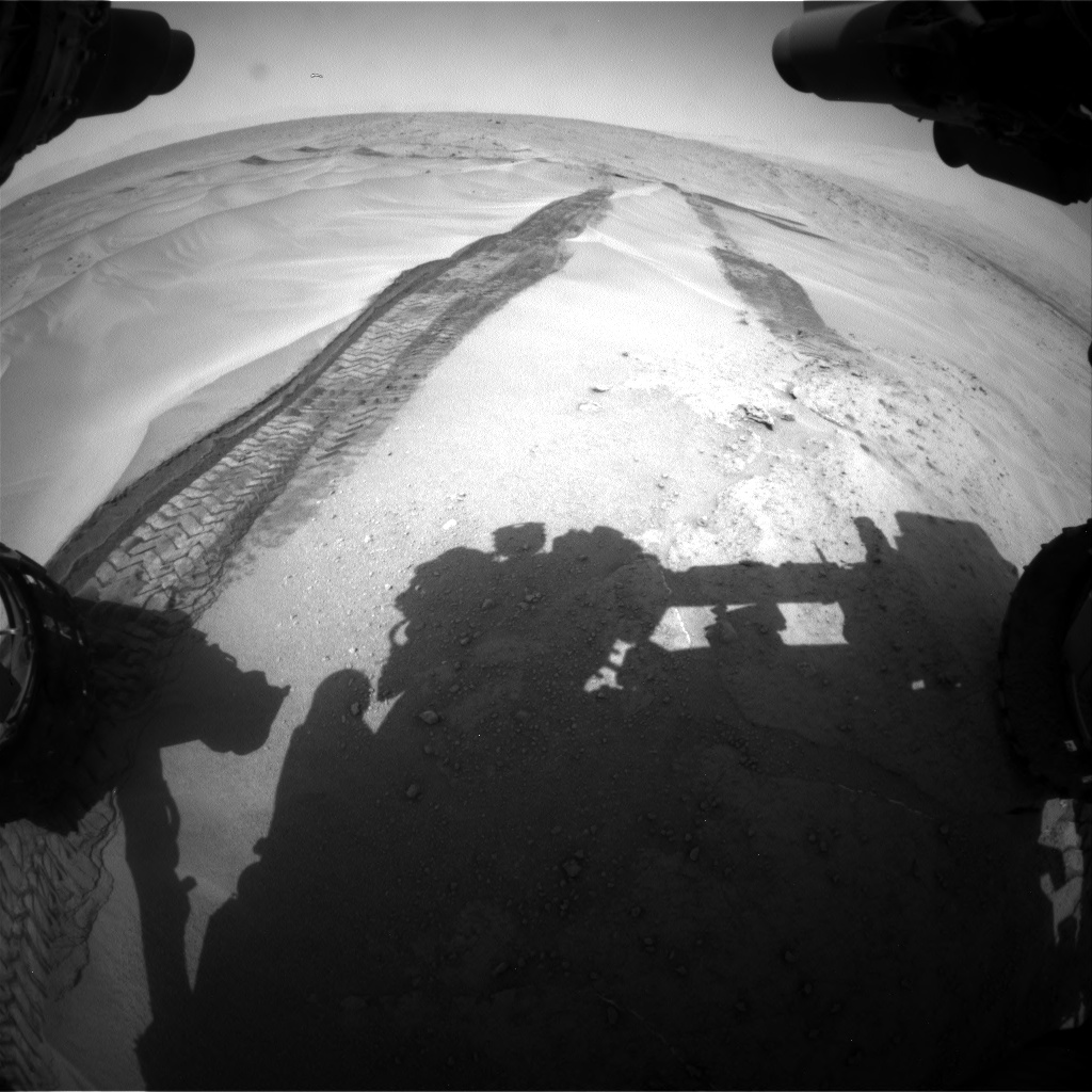 Nasa's Mars rover Curiosity acquired this image using its Front Hazard Avoidance Camera (Front Hazcam) on Sol 676, at drive 196, site number 38