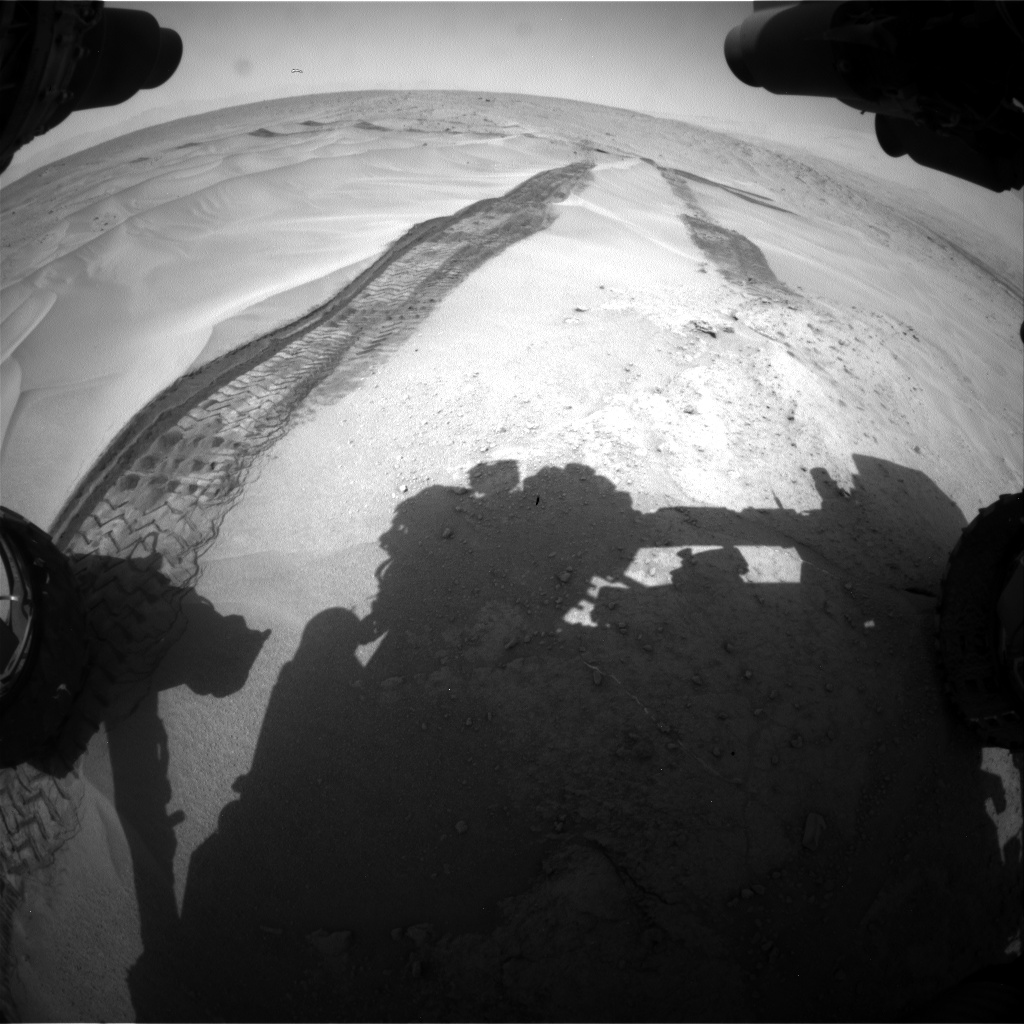 Nasa's Mars rover Curiosity acquired this image using its Front Hazard Avoidance Camera (Front Hazcam) on Sol 676, at drive 202, site number 38