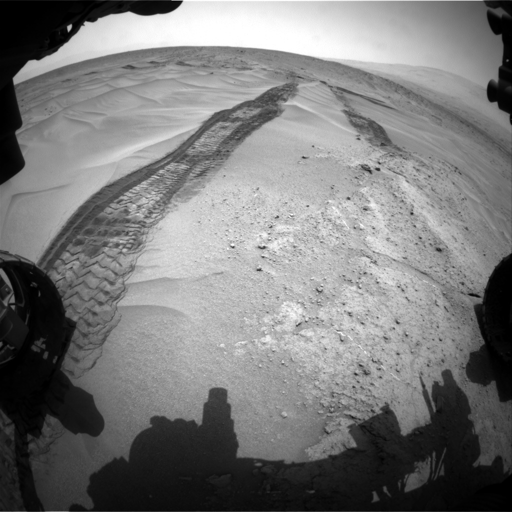 NASA's Mars rover Curiosity acquired this image using its Front Hazard Avoidance Cameras (Front Hazcams) on Sol 677