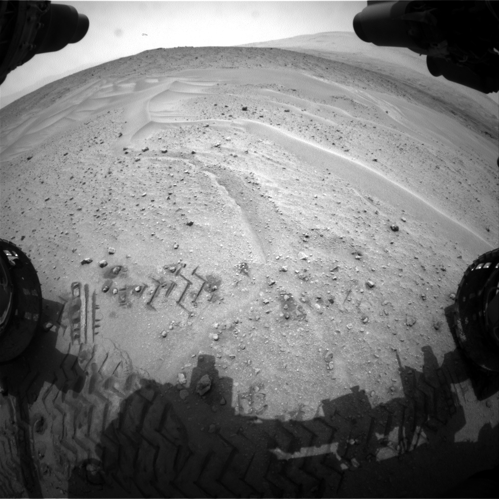 Nasa's Mars rover Curiosity acquired this image using its Front Hazard Avoidance Camera (Front Hazcam) on Sol 679, at drive 792, site number 38