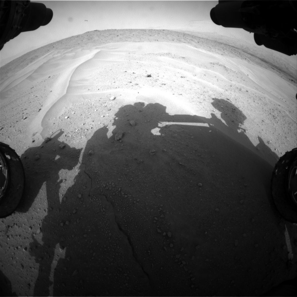Nasa's Mars rover Curiosity acquired this image using its Front Hazard Avoidance Camera (Front Hazcam) on Sol 679, at drive 816, site number 38