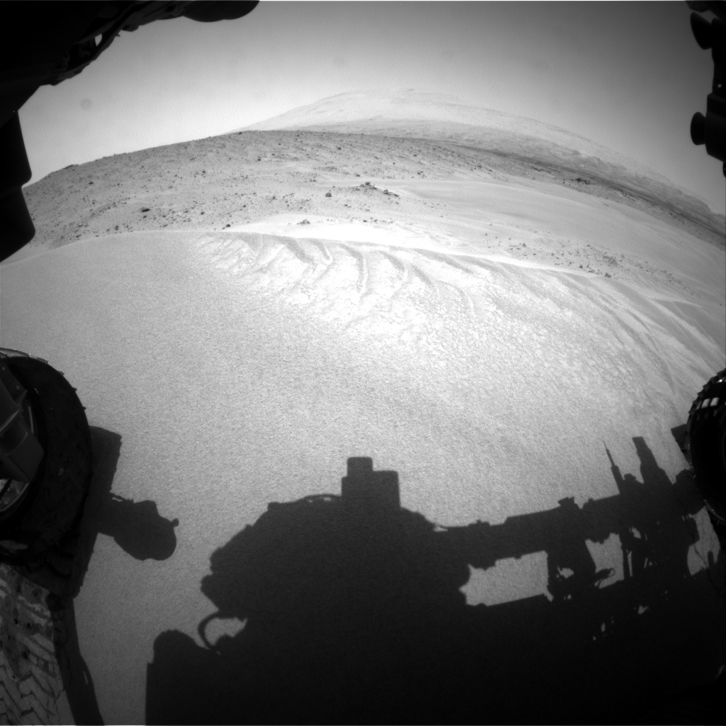 Nasa's Mars rover Curiosity acquired this image using its Front Hazard Avoidance Camera (Front Hazcam) on Sol 683, at drive 870, site number 38