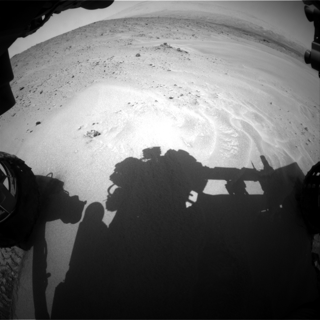 Nasa's Mars rover Curiosity acquired this image using its Front Hazard Avoidance Camera (Front Hazcam) on Sol 683, at drive 912, site number 38