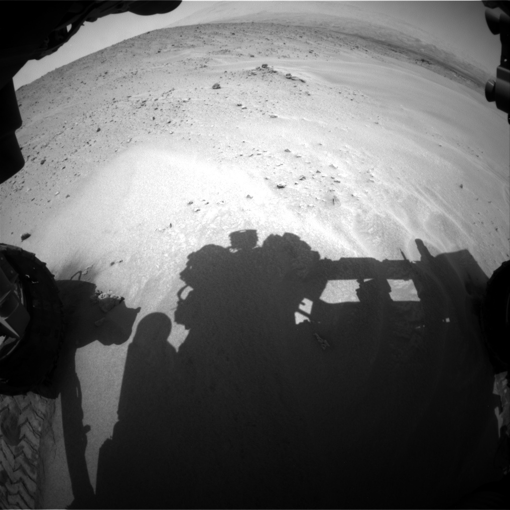 Nasa's Mars rover Curiosity acquired this image using its Front Hazard Avoidance Camera (Front Hazcam) on Sol 683, at drive 918, site number 38