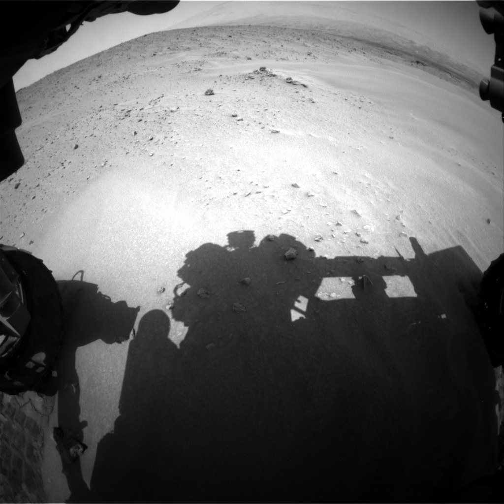 Nasa's Mars rover Curiosity acquired this image using its Front Hazard Avoidance Camera (Front Hazcam) on Sol 683, at drive 924, site number 38
