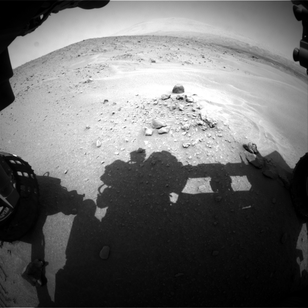 Nasa's Mars rover Curiosity acquired this image using its Front Hazard Avoidance Camera (Front Hazcam) on Sol 683, at drive 972, site number 38