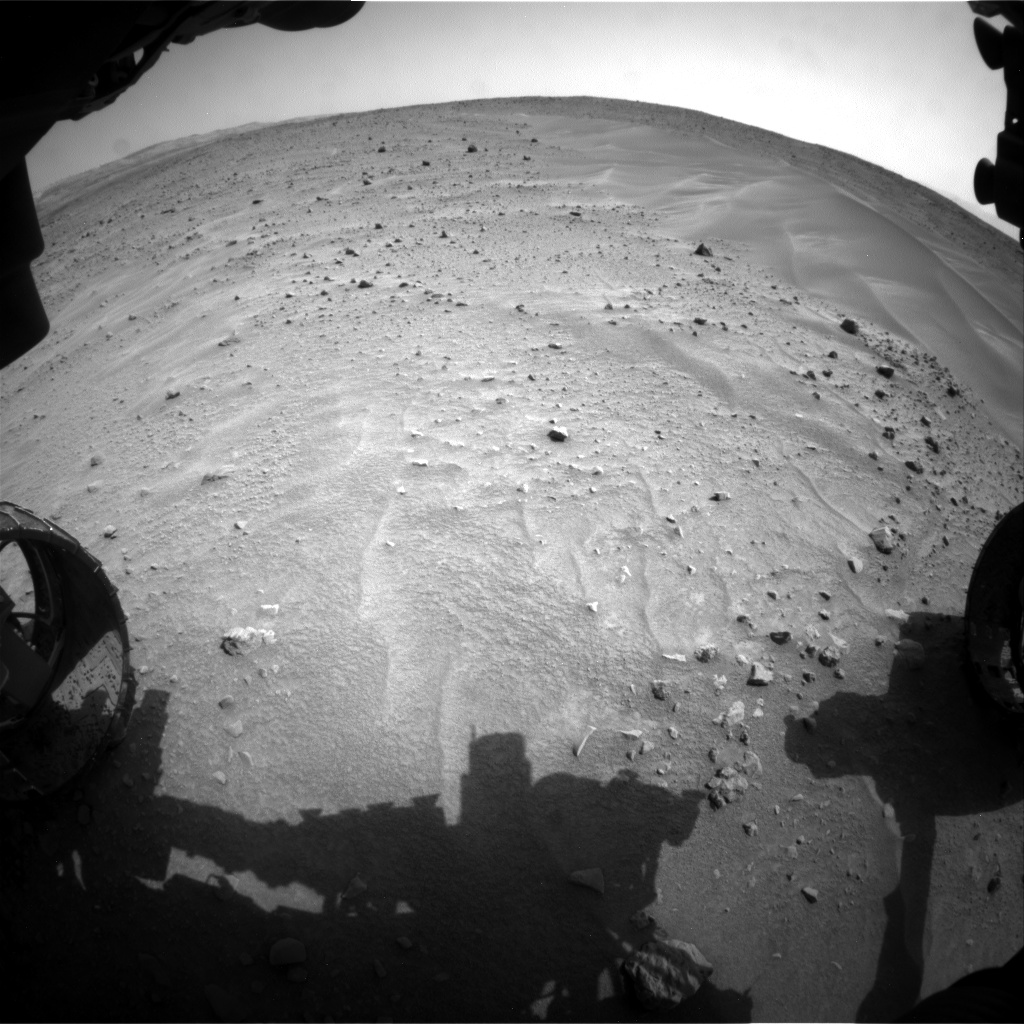 Nasa's Mars rover Curiosity acquired this image using its Front Hazard Avoidance Camera (Front Hazcam) on Sol 683, at drive 1266, site number 38