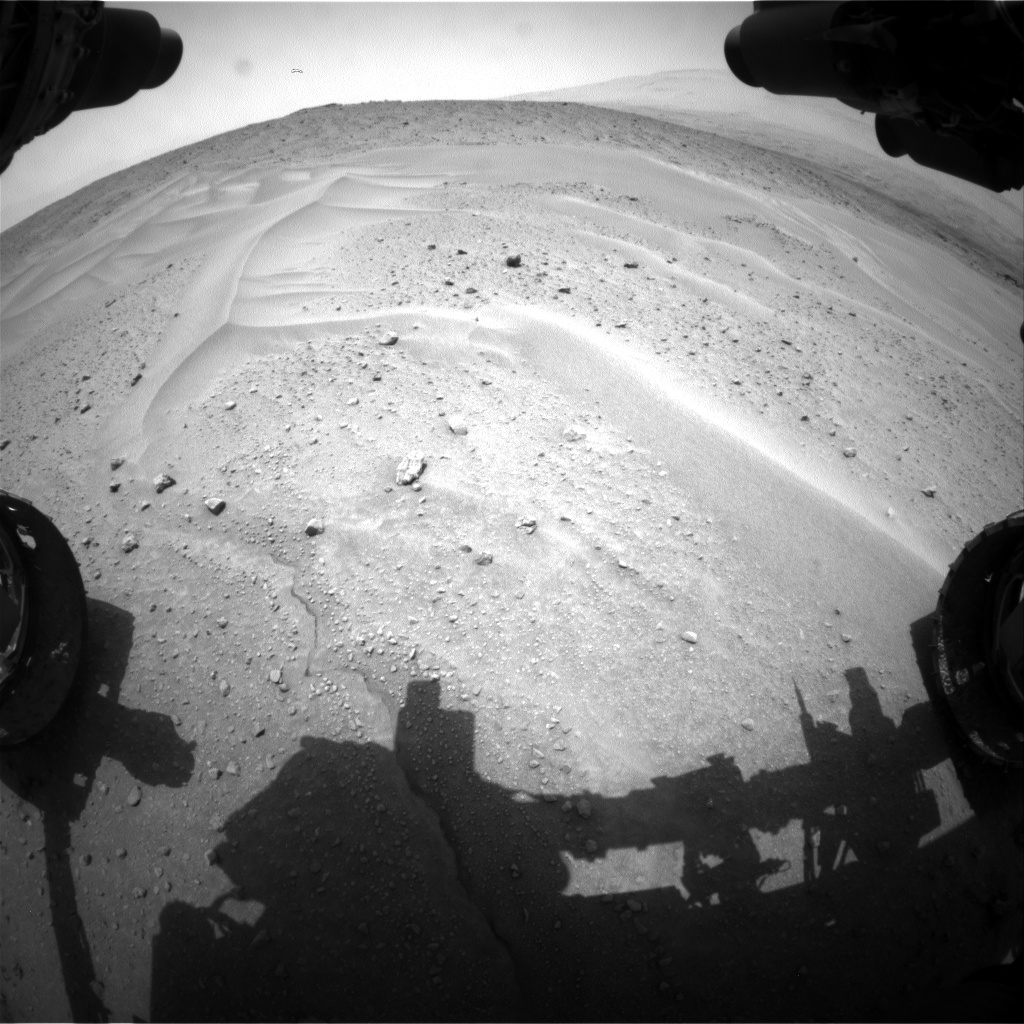 Nasa's Mars rover Curiosity acquired this image using its Front Hazard Avoidance Camera (Front Hazcam) on Sol 683, at drive 816, site number 38