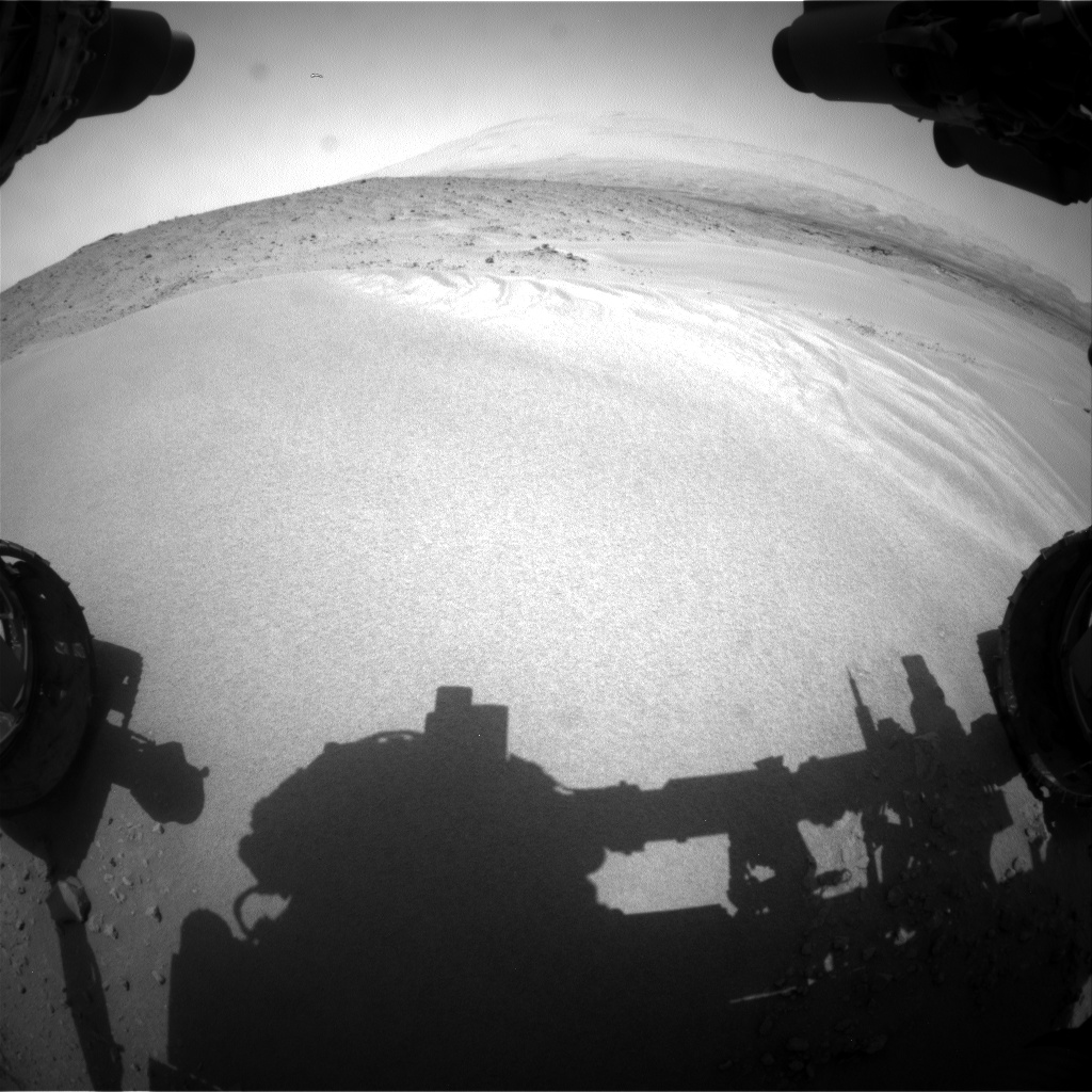Nasa's Mars rover Curiosity acquired this image using its Front Hazard Avoidance Camera (Front Hazcam) on Sol 683, at drive 858, site number 38