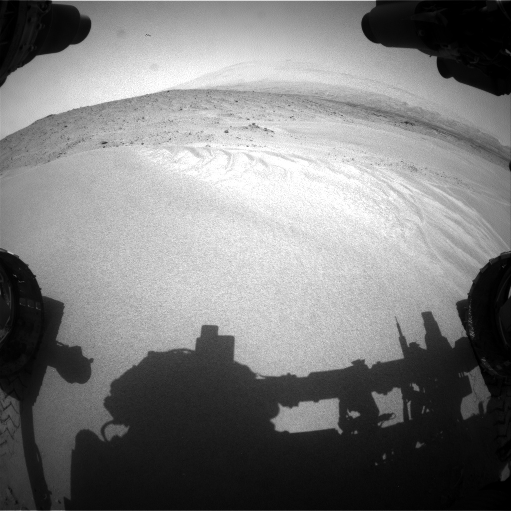 Nasa's Mars rover Curiosity acquired this image using its Front Hazard Avoidance Camera (Front Hazcam) on Sol 683, at drive 864, site number 38