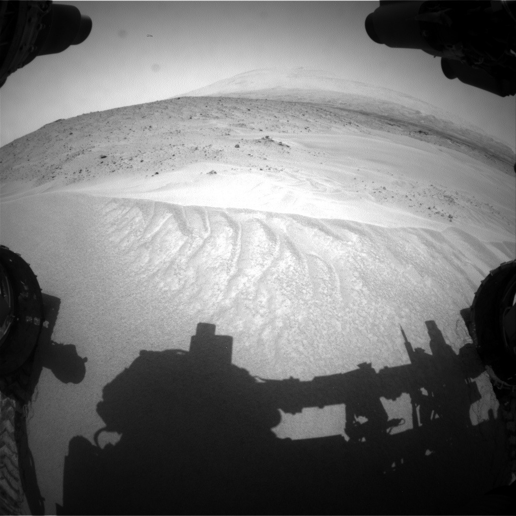 Nasa's Mars rover Curiosity acquired this image using its Front Hazard Avoidance Camera (Front Hazcam) on Sol 683, at drive 876, site number 38