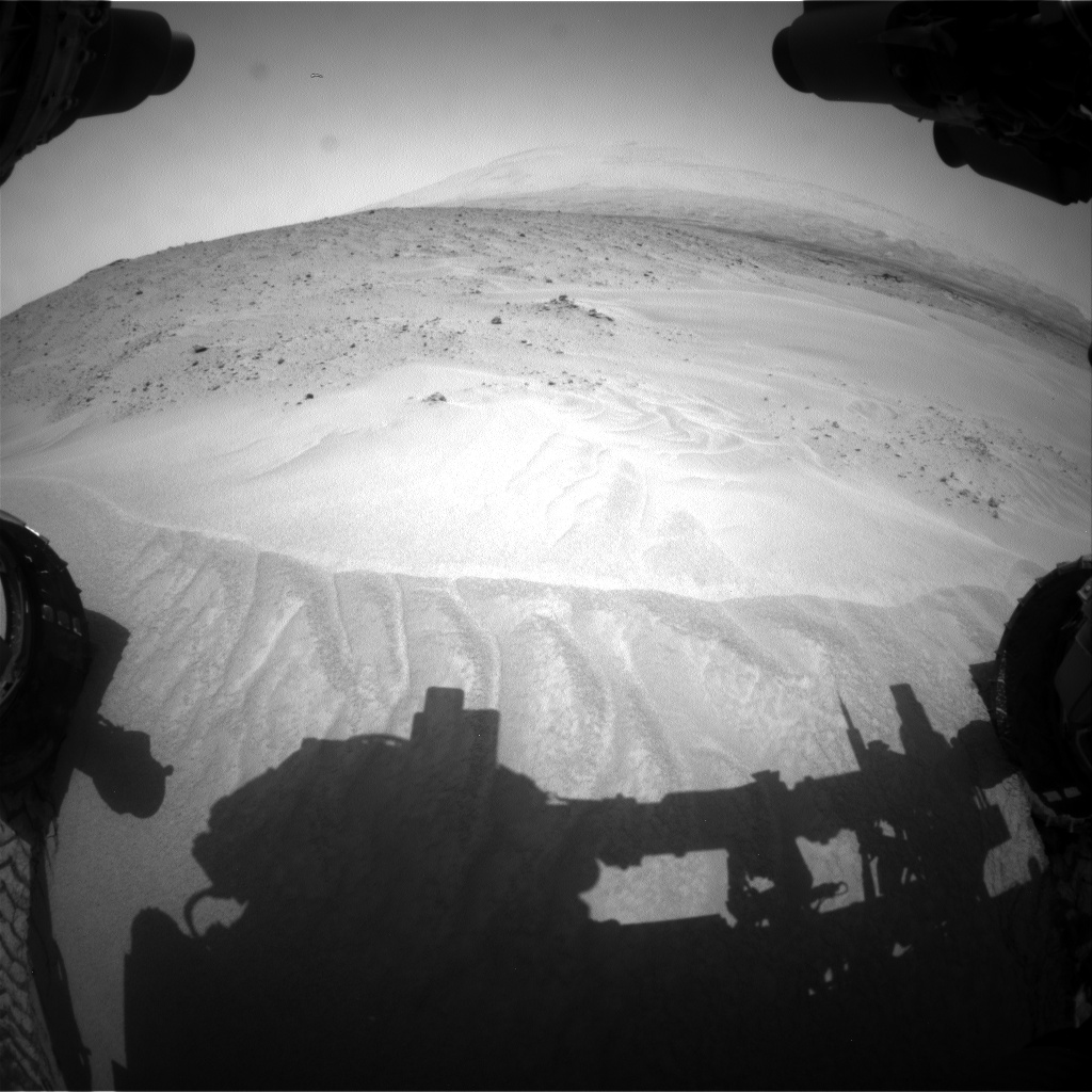 Nasa's Mars rover Curiosity acquired this image using its Front Hazard Avoidance Camera (Front Hazcam) on Sol 683, at drive 882, site number 38