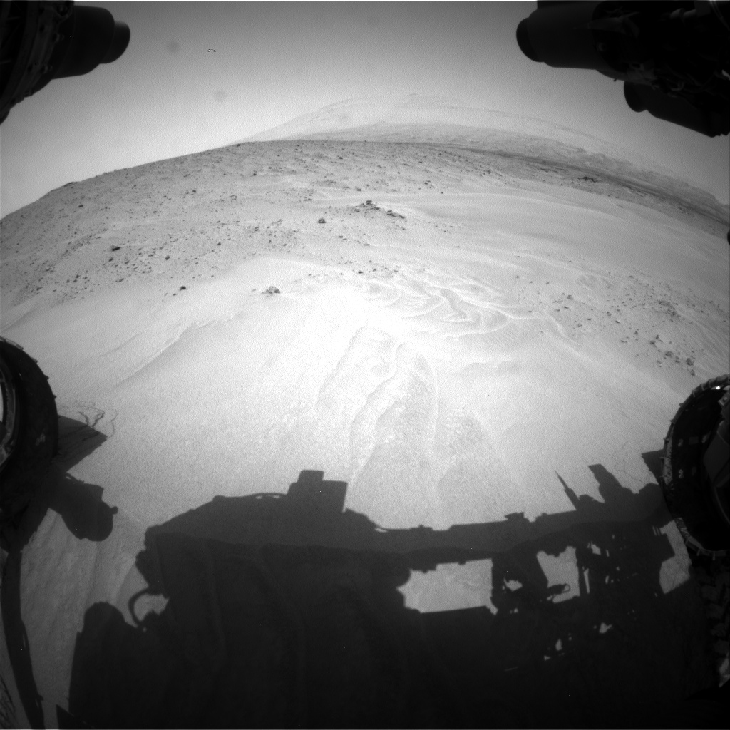 Nasa's Mars rover Curiosity acquired this image using its Front Hazard Avoidance Camera (Front Hazcam) on Sol 683, at drive 888, site number 38