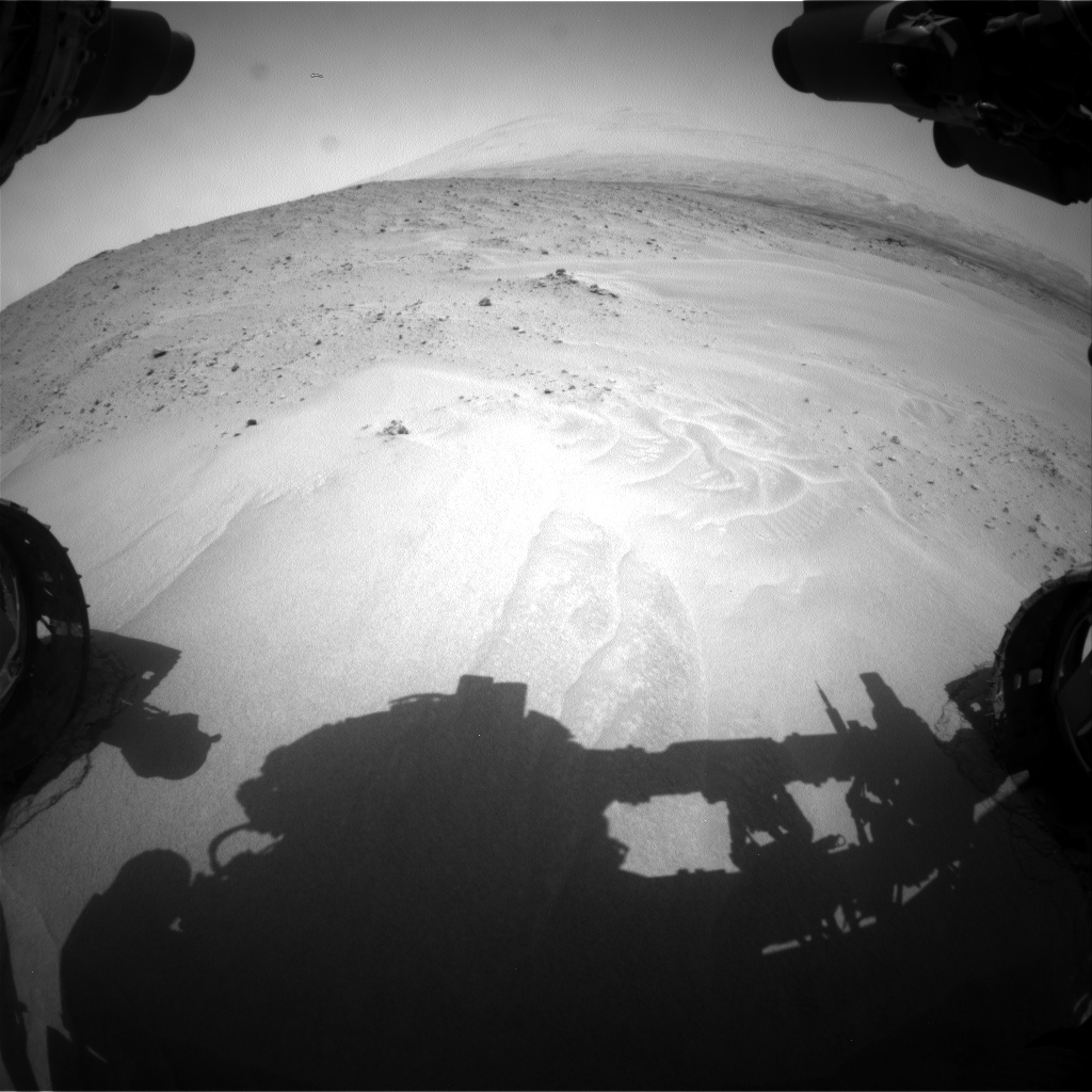 Nasa's Mars rover Curiosity acquired this image using its Front Hazard Avoidance Camera (Front Hazcam) on Sol 683, at drive 894, site number 38