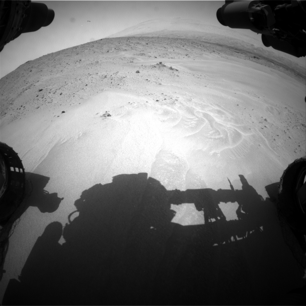 Nasa's Mars rover Curiosity acquired this image using its Front Hazard Avoidance Camera (Front Hazcam) on Sol 683, at drive 900, site number 38