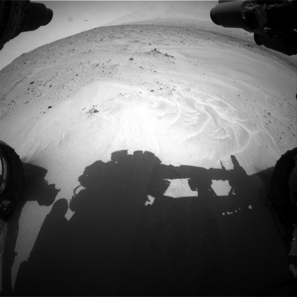 Nasa's Mars rover Curiosity acquired this image using its Front Hazard Avoidance Camera (Front Hazcam) on Sol 683, at drive 906, site number 38