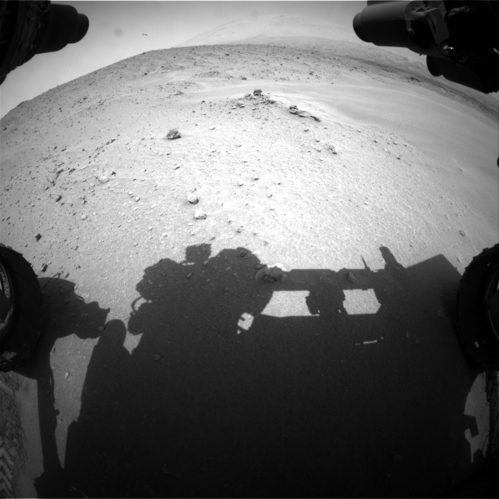 Nasa's Mars rover Curiosity acquired this image using its Front Hazard Avoidance Camera (Front Hazcam) on Sol 683, at drive 942, site number 38