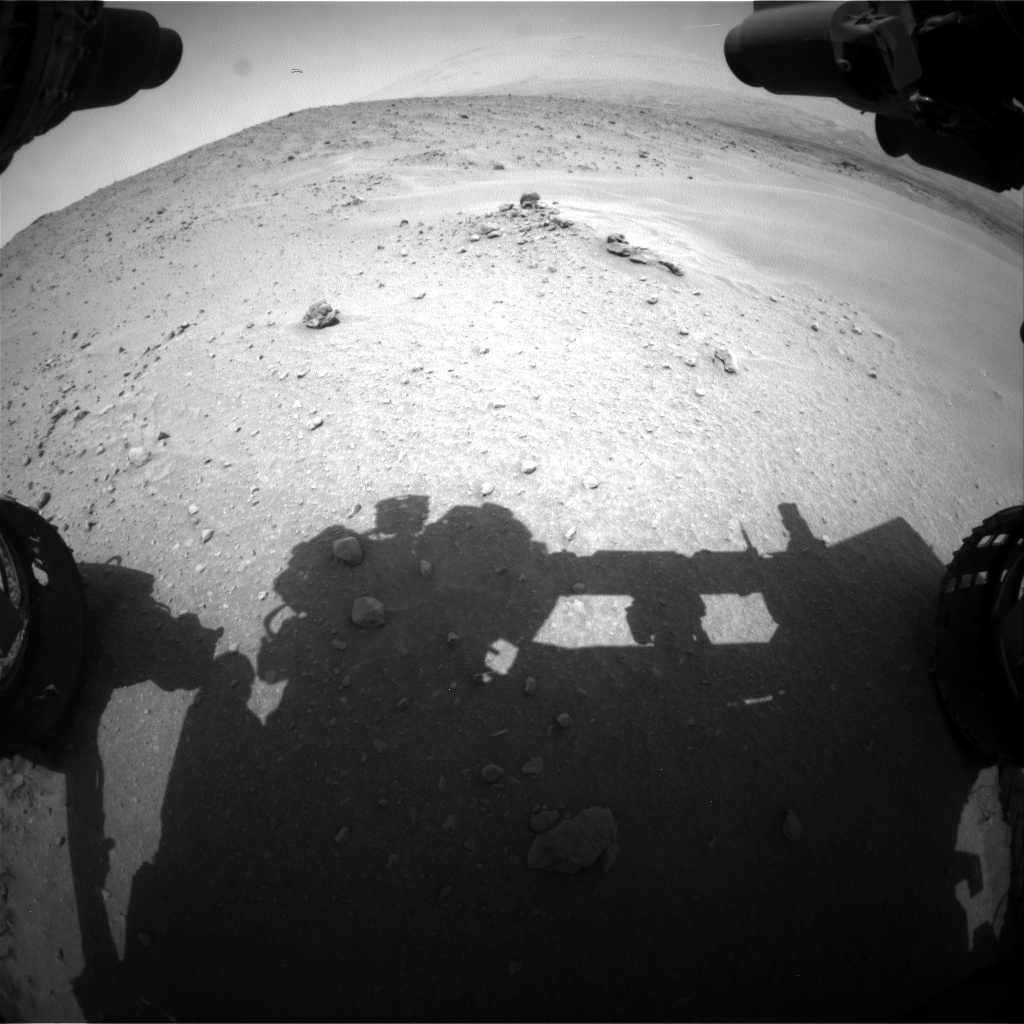 Nasa's Mars rover Curiosity acquired this image using its Front Hazard Avoidance Camera (Front Hazcam) on Sol 683, at drive 948, site number 38