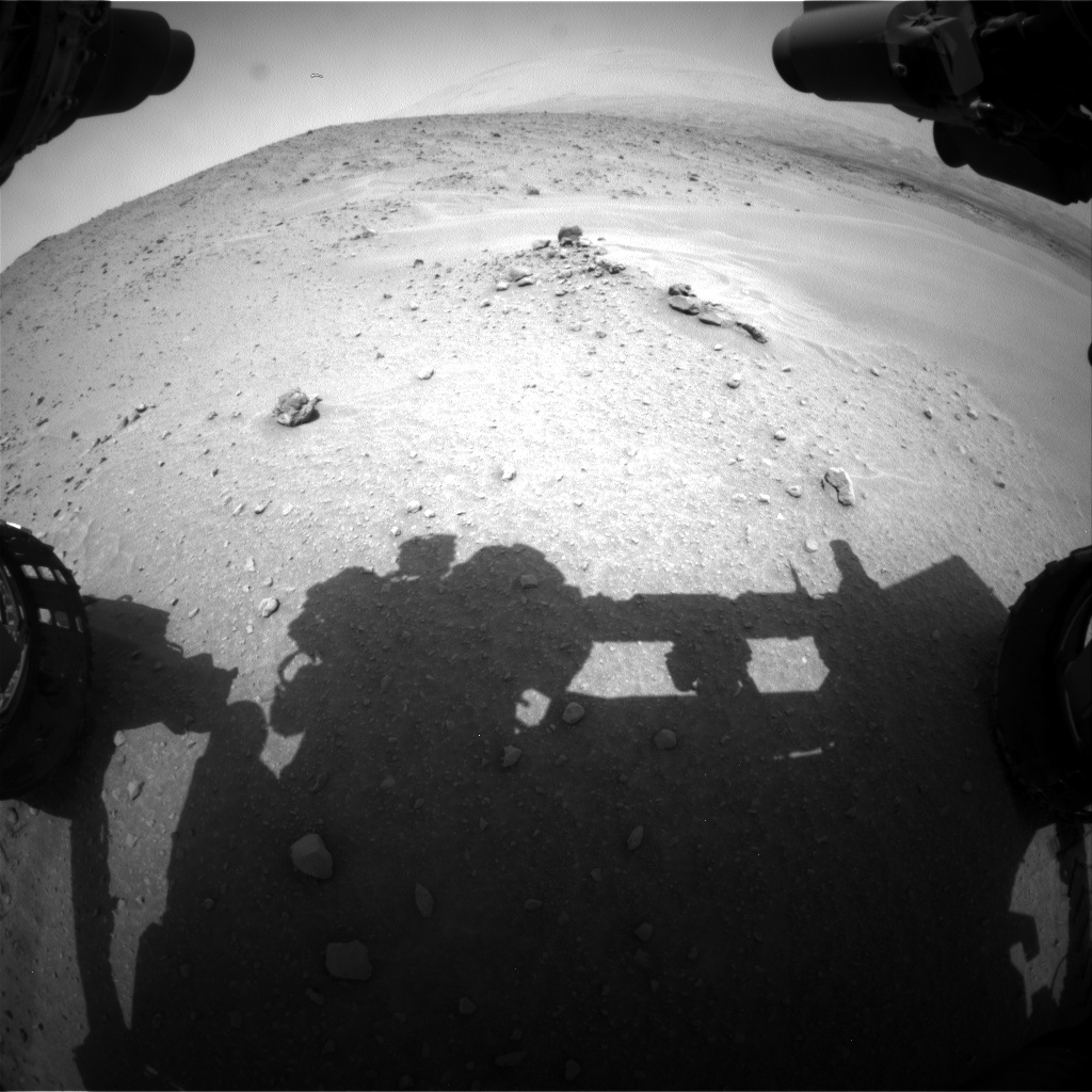 Nasa's Mars rover Curiosity acquired this image using its Front Hazard Avoidance Camera (Front Hazcam) on Sol 683, at drive 954, site number 38