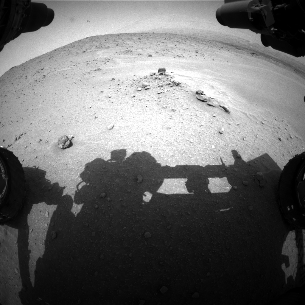 Nasa's Mars rover Curiosity acquired this image using its Front Hazard Avoidance Camera (Front Hazcam) on Sol 683, at drive 960, site number 38