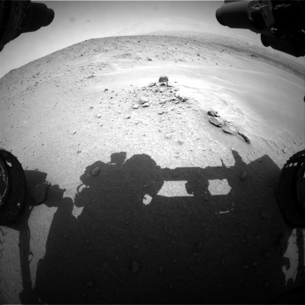 Nasa's Mars rover Curiosity acquired this image using its Front Hazard Avoidance Camera (Front Hazcam) on Sol 683, at drive 966, site number 38