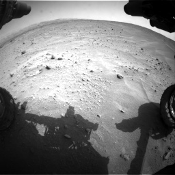 Nasa's Mars rover Curiosity acquired this image using its Front Hazard Avoidance Camera (Front Hazcam) on Sol 683, at drive 1248, site number 38