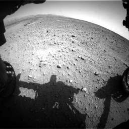 Nasa's Mars rover Curiosity acquired this image using its Front Hazard Avoidance Camera (Front Hazcam) on Sol 685, at drive 1710, site number 38