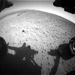 Nasa's Mars rover Curiosity acquired this image using its Front Hazard Avoidance Camera (Front Hazcam) on Sol 685, at drive 1734, site number 38