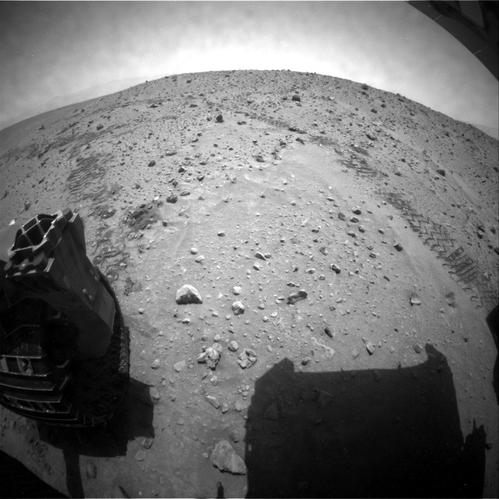 NASA's Mars rover Curiosity acquired this image using its Rear Hazard Avoidance Cameras (Rear Hazcams) on Sol 685