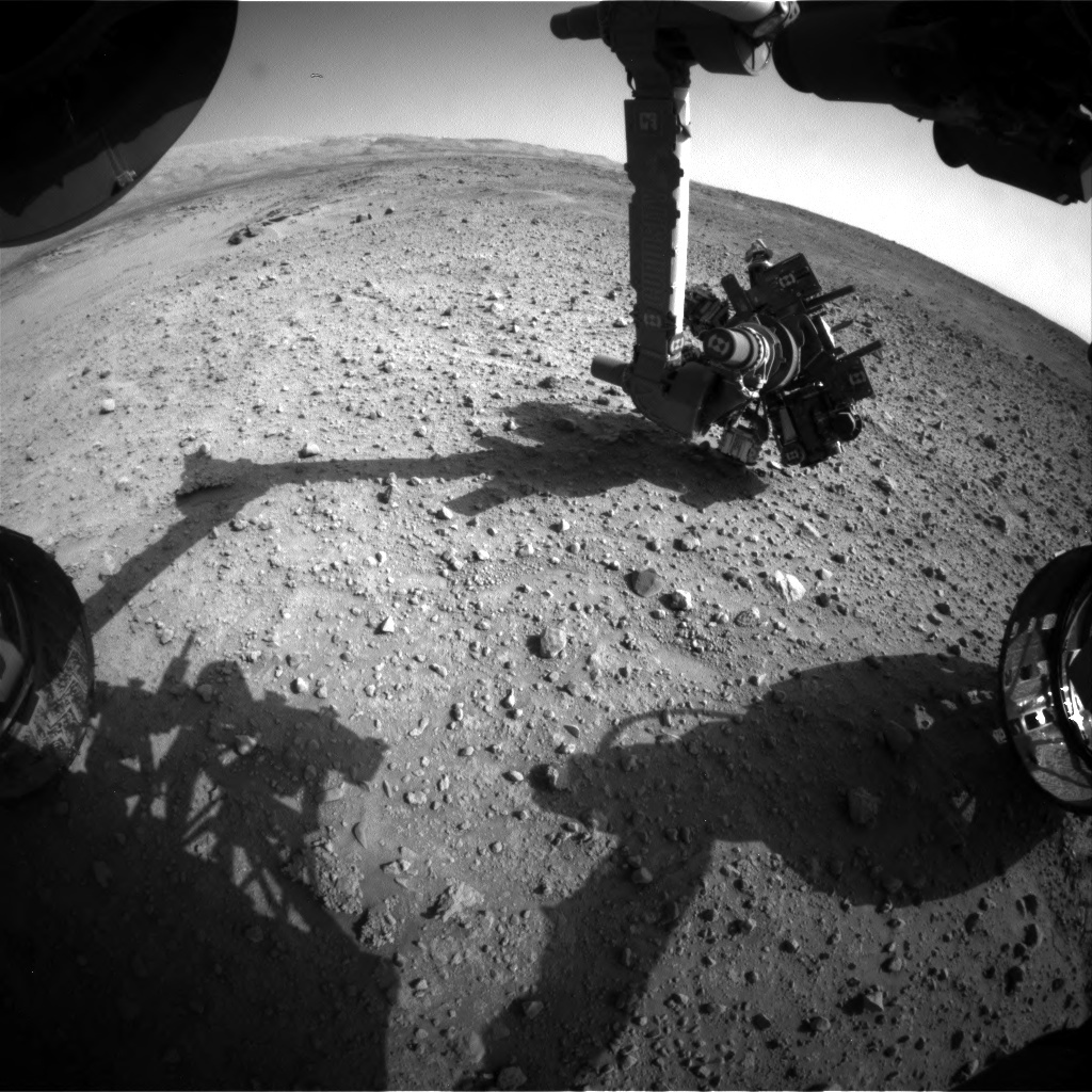 NASA's Mars rover Curiosity acquired this image using its Front Hazard Avoidance Cameras (Front Hazcams) on Sol 687