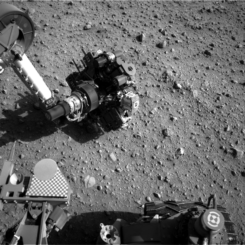 NASA's Mars rover Curiosity acquired this image using its Right Navigation Cameras (Navcams) on Sol 687