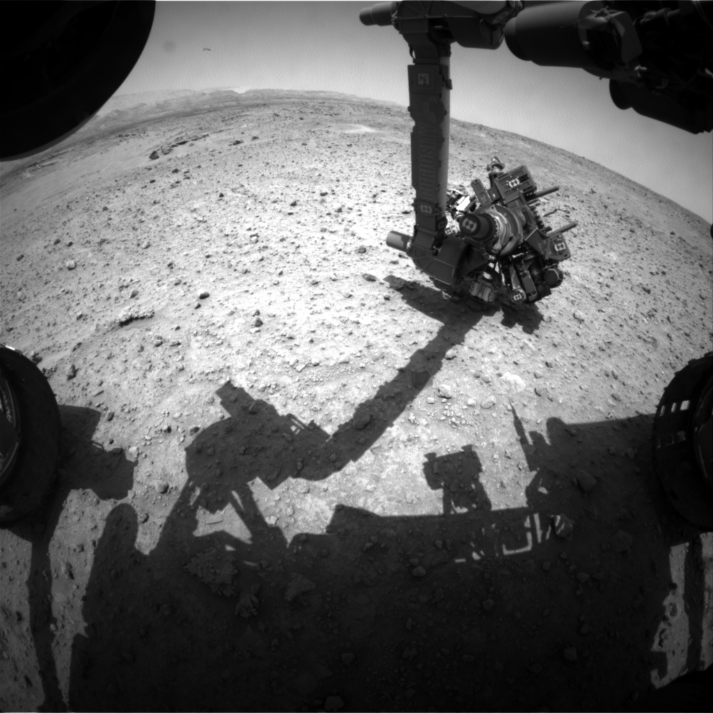 Nasa's Mars rover Curiosity acquired this image using its Front Hazard Avoidance Camera (Front Hazcam) on Sol 688, at drive 0, site number 39
