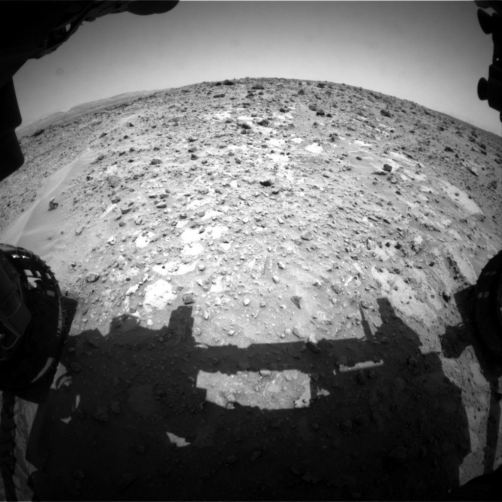 Nasa's Mars rover Curiosity acquired this image using its Front Hazard Avoidance Camera (Front Hazcam) on Sol 689, at drive 444, site number 39